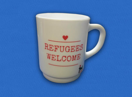 Refugees Welcome Tasse