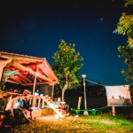 Open Air Kino im Surfcamp Comillas