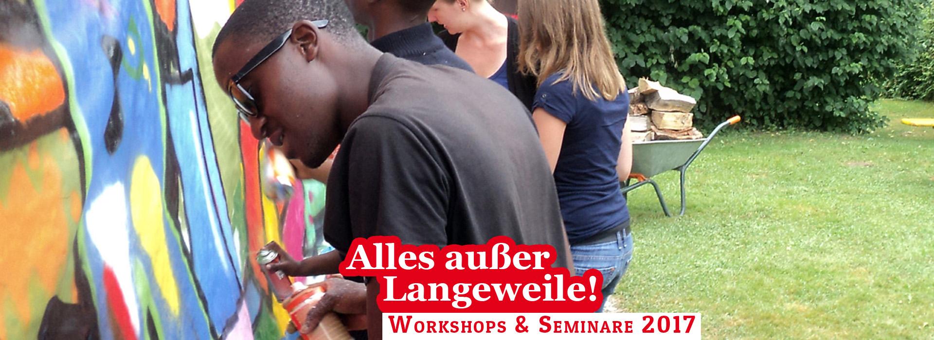 Die Termine 2017 für Workshops und Seminare des Jugendwerk der AWO Württemberg