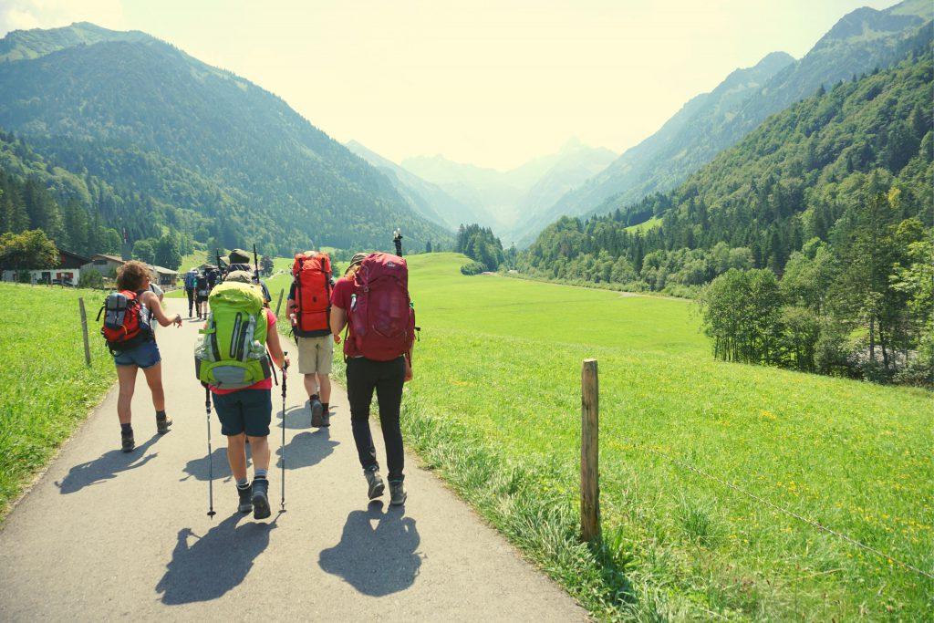 Alpen E5 Wandern jugendwerk Wanderfreizeit Jugendreisen